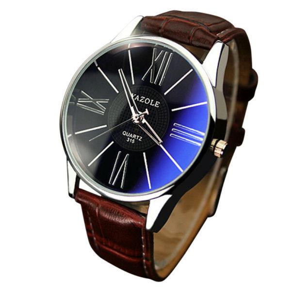 Луксозен мъжки бизнес часовник - кафяв