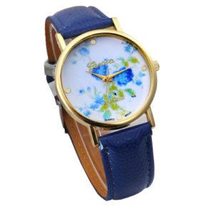 Луксозен дамски часовник Синя Роза
