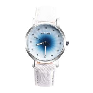 Луксозен дамски часовник - бял диамант