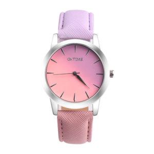 Преливащ дамски часовник - розов