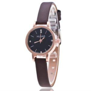 Луксозен дамски часовник - кафяв