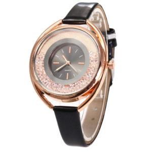 Луксозен дамски часовник с кристали