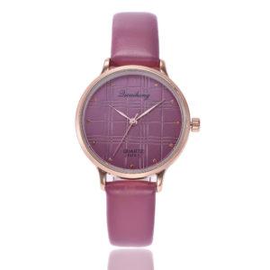 Луксозен дамски часовник - пурпорен корал