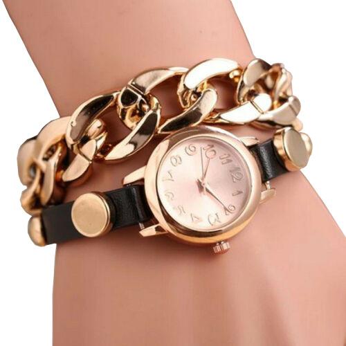 Луксозен дамски часовник бижу с гривна