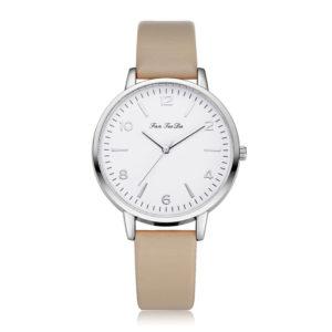 Стилен дамски часовник - бежев