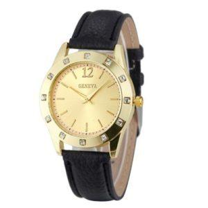 Луксозен дамски бизнес часовник с кристали
