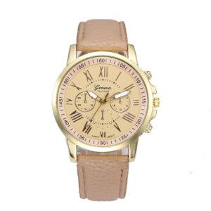 Луксозен дамски часовник Geneva - златист