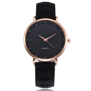 Луксозен дамски минималистичен часовник - черен