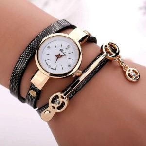 Елегантен дамски часовник бижу - тъмен