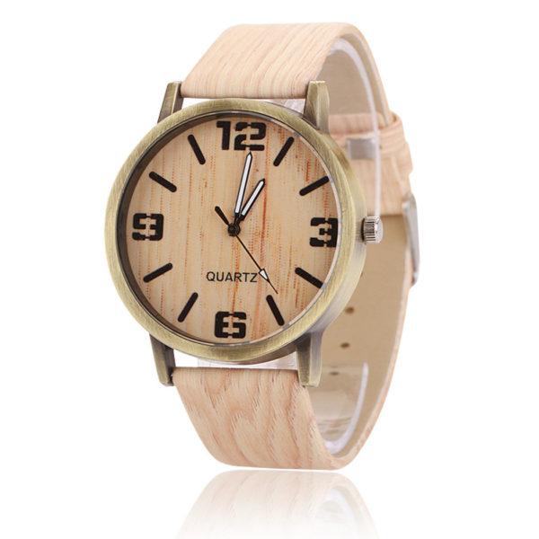 Дървен унисекс часовник - vintage