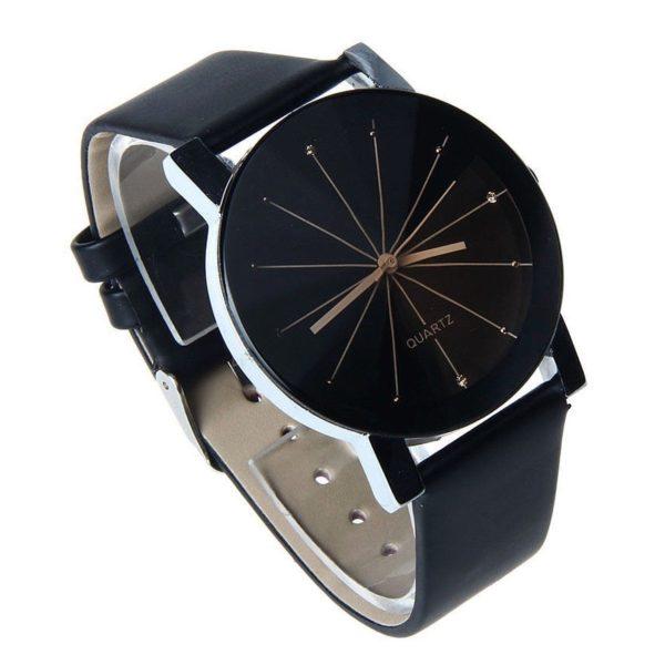 Елегантен дамски часовник - черен