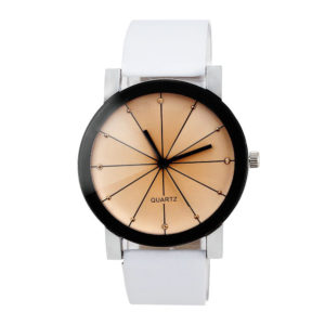 Елегантен дамски часовник - бял