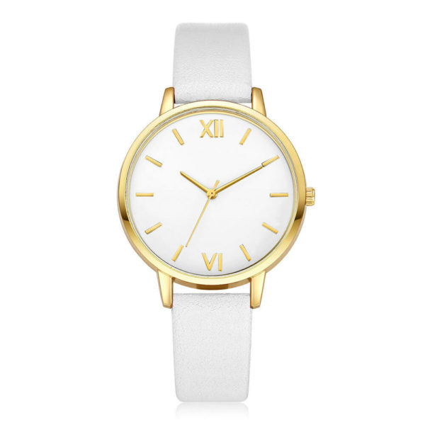 Луксозен дамски часовник - бяло/злато