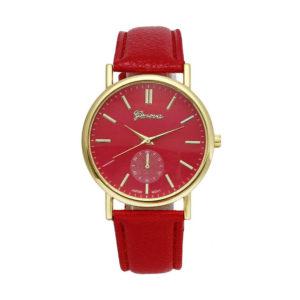 Луксозен дамски часовник Geneva - червен