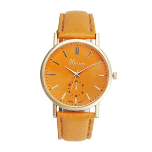 Луксозен дамски часовник Geneva - оранжев