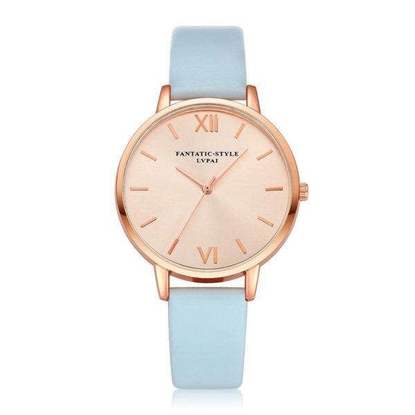 Луксозен дамски часовник - небесно синьо