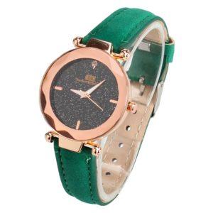 Елегантен дамски часовник - зелен