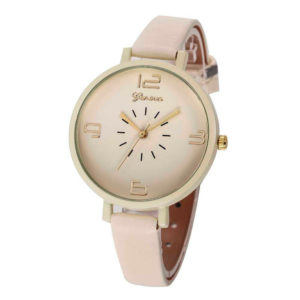 Луксозен дамски часовник Geneva - вечерен/бежов