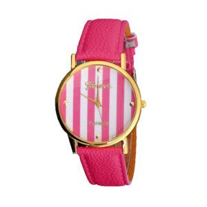 Луксозен моден дамски часовник - розов