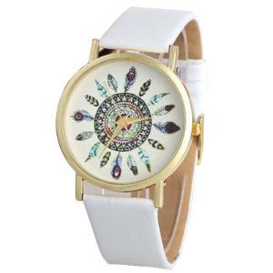 Елегантен дамски часовник Vintage - бял