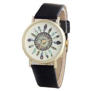 Елегантен дамски часовник Vintage - черен