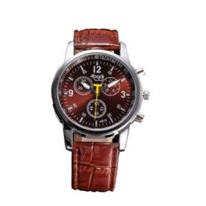 Елегантен мъжки часовник - кафяв