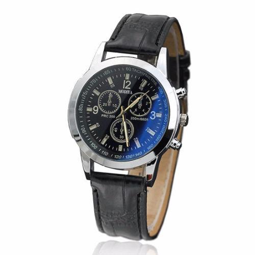 Евтин мъжки часовник - черен