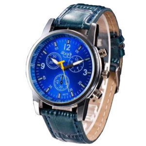 Елегантен мъжки часовник - син