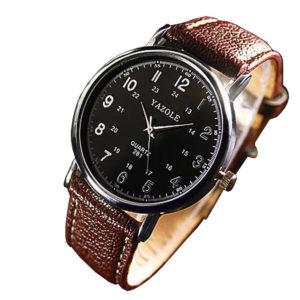 Луксозен мъжки часовник - кафяво/черно