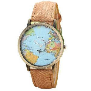 Елегантен унисекс часовник Traveller - кафе