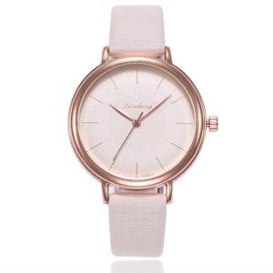 Класически дамски часовник - бежов