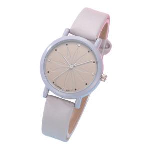 Красив дамски часовник Цвете - бежов