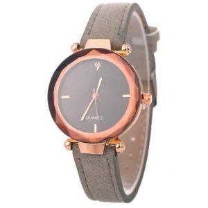 Елегантен дамски бизнес часовник - какао