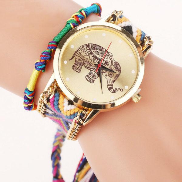 Красив дамски часовник със слонче