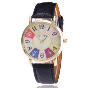 Красив дамски часовник - шарен