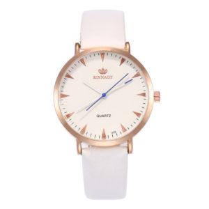 Луксозен дамски часовник - бял / сини стрелки