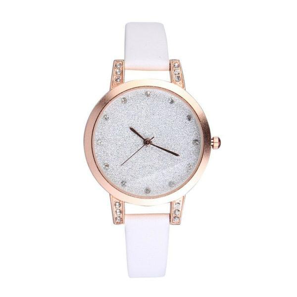 Луксозен дамски часовник Темперамент - бял