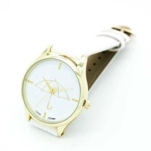 Луксозен дамски часовник Чадър - светъл
