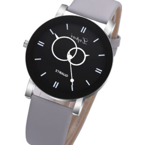 Луксозен дамски часовник - сив мат