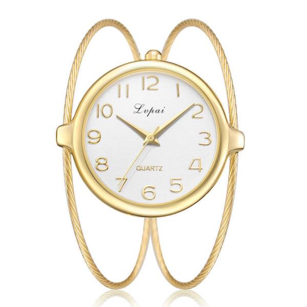Луксозен дамски часовник - злато