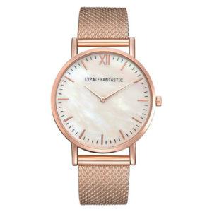 Луксозен дамски часовник Елеганс - розово злато