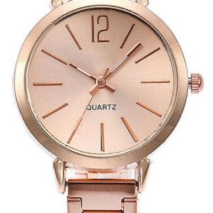 Луксозен дамски часовник - розово злато