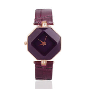 Луксозен дамски часовник – лилав