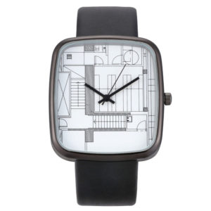 Стилен дамски часовник Архитект - черен
