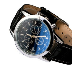 Мъжки луксозен бизнес часовник - черен