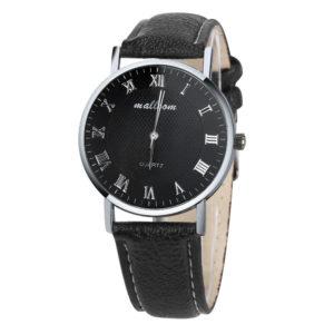 Луксозен мъжки часовник Римски - тъмен