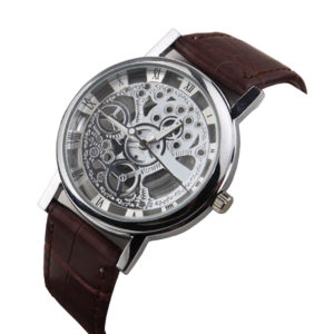 Лъксозен мъжки часовник - прозрачен