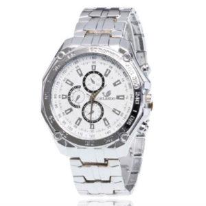 Луксозен мъжки часовник Орландо - бял/сребро