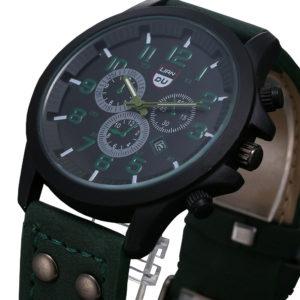 Луксозен мъжки водоустойчив часовник - зелен