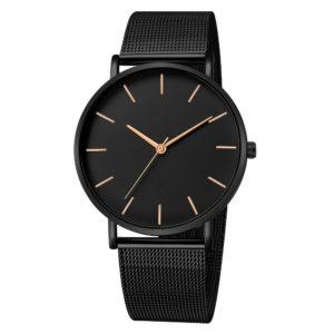 Луксозен унисекс часовник - черен